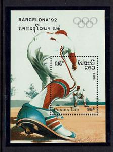 Laos stamps 1989 Barcelona M/S MNH