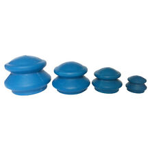 4x/Set Blue Chinese Rubber Cupping - Cellulite Therapy, Massage, Acupuncture **
