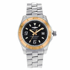 Breitling Stainless Steel Band Wristwatches with Date Indicator