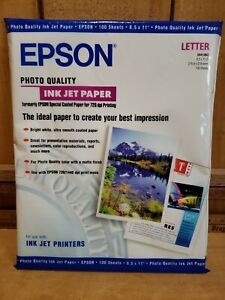 "Epson Ink Jet Paper 100 Sheets White Matte Finish. Photo Quality 8.5"" x 11"""