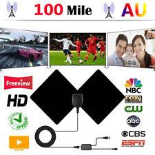 Flat Indoor Digital TV Antenna 100 Mile Range 1080P Signal Booster Amplifier HD