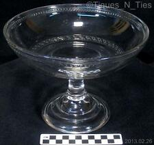 Antique Central Glass Dot and Dash EAPG Footed Fruit Compote Pressed Sandwich FF
