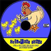 200+ ALL TIME TOP CHILDREN SONGS & KIDS NURSERY RHYMES OLD & MODERN NEW MP3 CD
