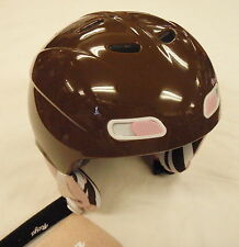 NEW RED REYA SKI SNOWBOARD HELMET SIZE 53 TO 55 CM COLOR BROWN/PINK  MSRP $80