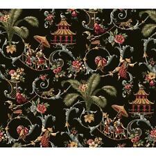 WALLPAPER BY THE YARD Waverly Wallpaper WA7769 Mandarin Prose Oriental Asian Toi