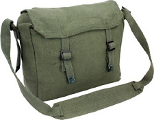 Army Style Canvas Bag Green Military Haversack Man Satchel Festival Shoulder NEW
