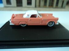 Oxford  1956 Ford Thunderbird  Sunset Coral     1/87   HO   diecast car