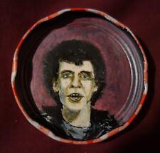 LOU REED, Jam Jar Lid Portrait, Velvet Underground, Outsider Folk Art, PETER ORR