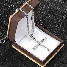Cross Pendant Chain Necklace Ek Movie Jewelry Dominic Toretto Men Male