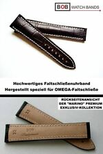 - Bob echt Leder faltschliessenuhrband compatibile con Omega-Faltschließe 22/18