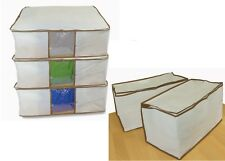 NEW 3  GIANT ZIPPED ATTIC UNDERBED STORAGE BAGS + 2 MOTH FREE CHESTS BREATHABLE