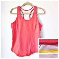 Womens Large Lucy Activewear Tank Racerback Running Yoga Pink Stretch Bra