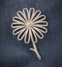 Designer Signed Monet Enamel Daisy Flower Pin Brooch