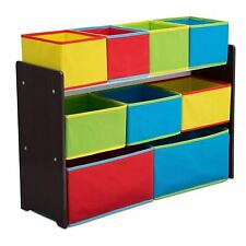 Delta Children Deluxe Multi-Bin Toy Organizer with Storage Bins, Dark Chocolate/