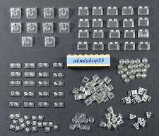 LEGO - Assorted Lot 130+ Translucent Clear Pieces Plates Tiles Bricks Trans Bulk
