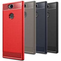 Facile Plaine Case pour Sony Xperia XA2 Plus Coque Silicone Cover Bumper Doux