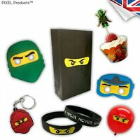 NINJAGO Party Bag fillers, Favours - Keyrings, wristbands, Balloons, Bags, Masks