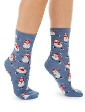 CHARTER CLUB Women's Snowmen Crew Socks One Size Christmas Holiday
