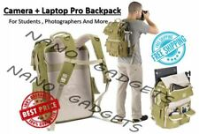 National Geographic SLR digital Backpack waterproof Laptop canvas camera khaki