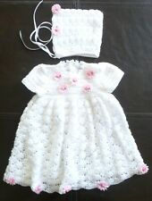 "Hand Crochet Dress Set for 20"" Baby Doll, Reborn, Ashton Drake etc"