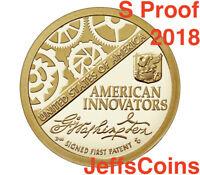 2018 S PROOF American Innovation New Golden Dollar Best Grade $1 Coin A 2019 D.P