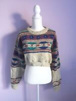NWT Urban Outfitters Size M / L Urban Renewal Cropped Wool Woolrich Sweater Gray