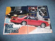 "Steeda 1992 Ford Mustang Notch & GT Vintage Info Article ""Magic Mustangs"""