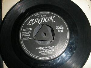 "Eddie Cochran Summertime Blues b/w Love Again 7"" Single 1958 London 45-HLU 8702"