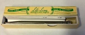 """1930's """"Life-Long"""" Nickle Silver Propelling Pencil, Original Box & Instructions"""