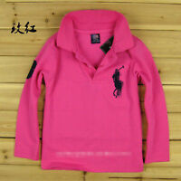 Children are boys and girls polo shirts net long sleeve T-shirt 2-13 Y 11 colors