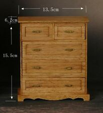 Doll Furniture Chest of 5 drawers -unpainted 1:6 scale Barbie Soldier