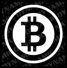 Large Bitcoin Cryptocurrency Blockchain freedom sticker vinyl car window decal