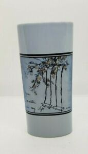 Light Blue Flower Vase with a saying YOU MATTER IN MY LIFE