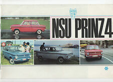1965 NSU PRINZ 4 car brochure