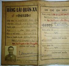 ARVN - Military Drivers Licence - HEAVY ARMOR - Cholon 1973 - Vietnam War - 8106