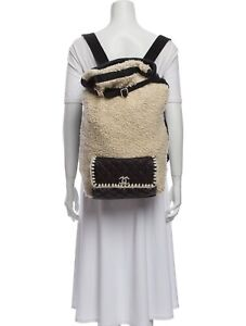 $5,000 Authentic CHANEL 2018 Large Shearling Coco-Neige Backpack VERY LARGE