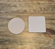 Blank wooden coasters 10 pack. 10cm, 100mm