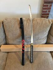 "KATANA SAMURAI SWORD 40"" OVERALL RED DRAGON PAINTED WOOD SCABBARD SW-465RD"