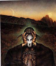 Unframed Art Poster fantasy art man with mask (k34)