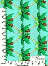 Hearts of Palms Lagoon Fabric F996 Michael Miller BY THE HALF YARD