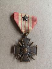 Médaille Croix de Guerre 1939-49 une citation WW2 France