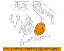MITSUBISHI OEM 97-03 Montero Sport Rear Brake-Rotor MB618797