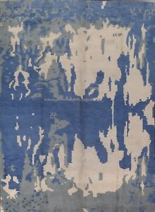 Contemporary Abstract Oriental Area Rug Modern Hand-knotted Living Room 9'x12'