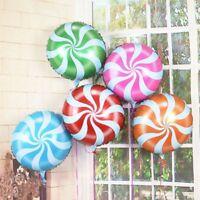 "Round Foil Balloon Blue Candy Swirl 18""/45cm Helium Air Birthday Party Wedding"