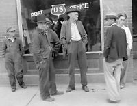 """1935 Men in Front of Post Office, Clay, WV Vintage Old Photo 8.5"""" x 11"""" Reprint"""