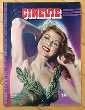 ►CINEVIE 90/1947-RITA HAYWORTH  COVER FRENCH MAGAZINE