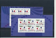 Greenland #632-633a Christmas 2012 booklet panes - very fine used