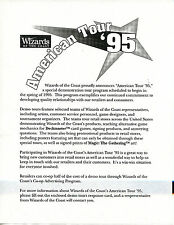 MTG WOTC 1994 Pro Tour Store Promo Kit with Posters Folder +