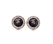 ZARA BLACK  VINTAGE STYLE  STUD EARRINGS