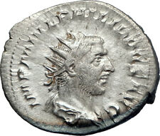 PHILIP I Arab 246AD Rome Authentic Ancient  Silver Roman Coin ANNONA  i73178